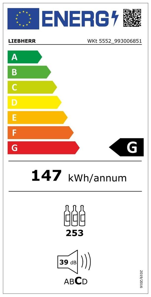 Etiqueta de Eficiencia Energética - WKT5552