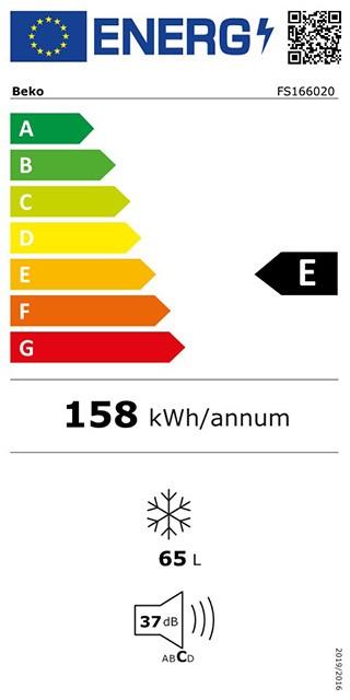 Etiqueta de Eficiencia Energética - FS166020