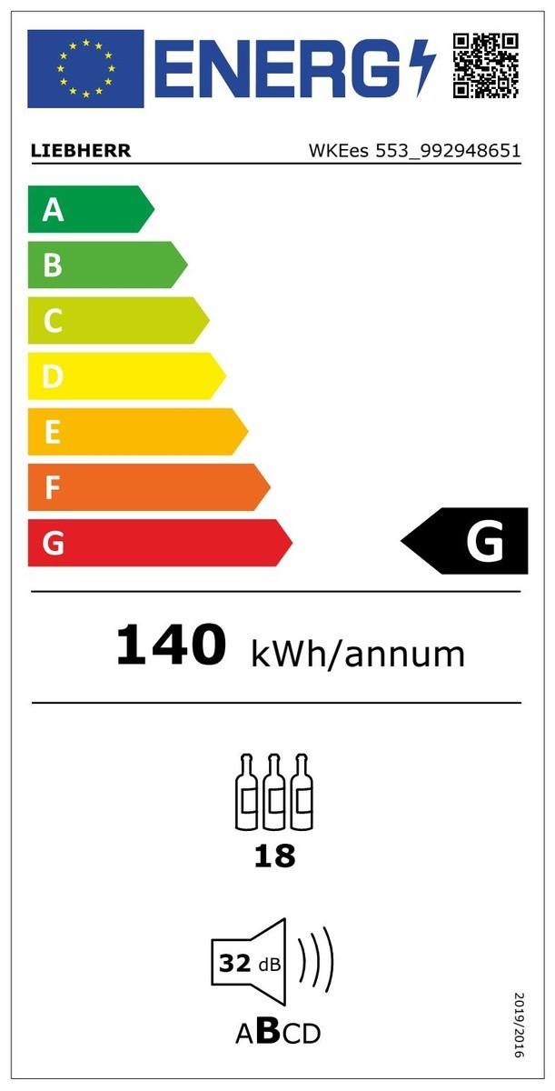 Etiqueta de Eficiencia Energética - WKEES553