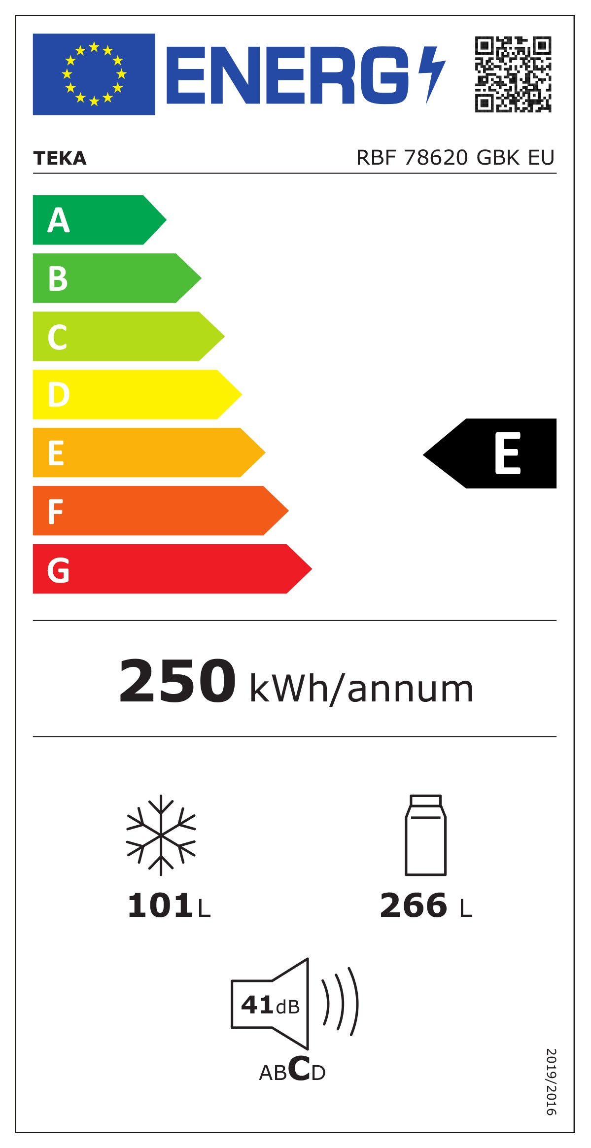 Etiqueta de Eficiencia Energética - 113400006