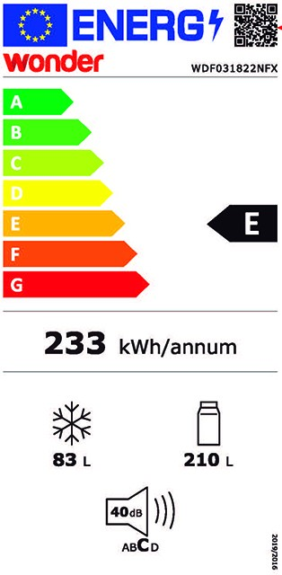 Etiqueta de Eficiencia Energética - WDF031822NFX