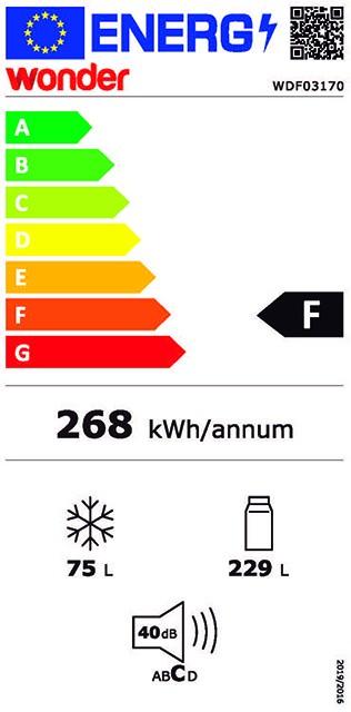 Etiqueta de Eficiencia Energética - WDF03170