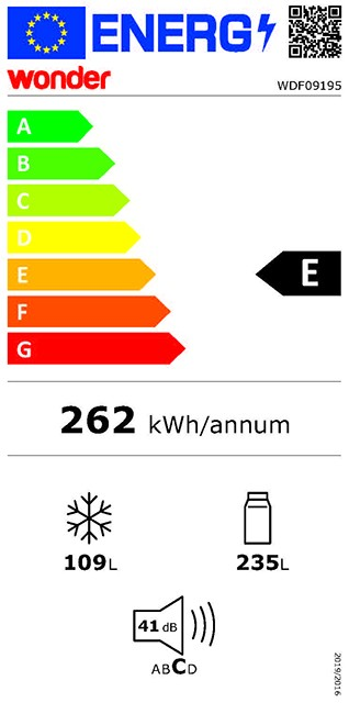 Etiqueta de Eficiencia Energética - WDF09195