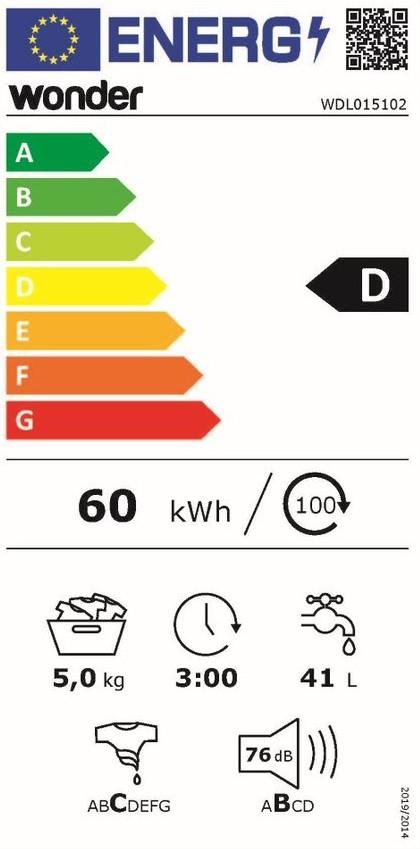 Etiqueta de Eficiencia Energética - WDL015102