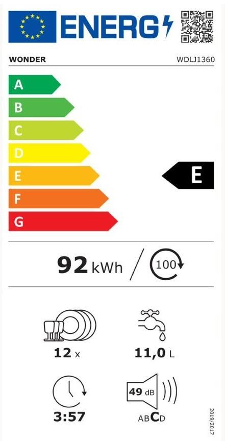 Etiqueta de Eficiencia Energética - WDLJ1360