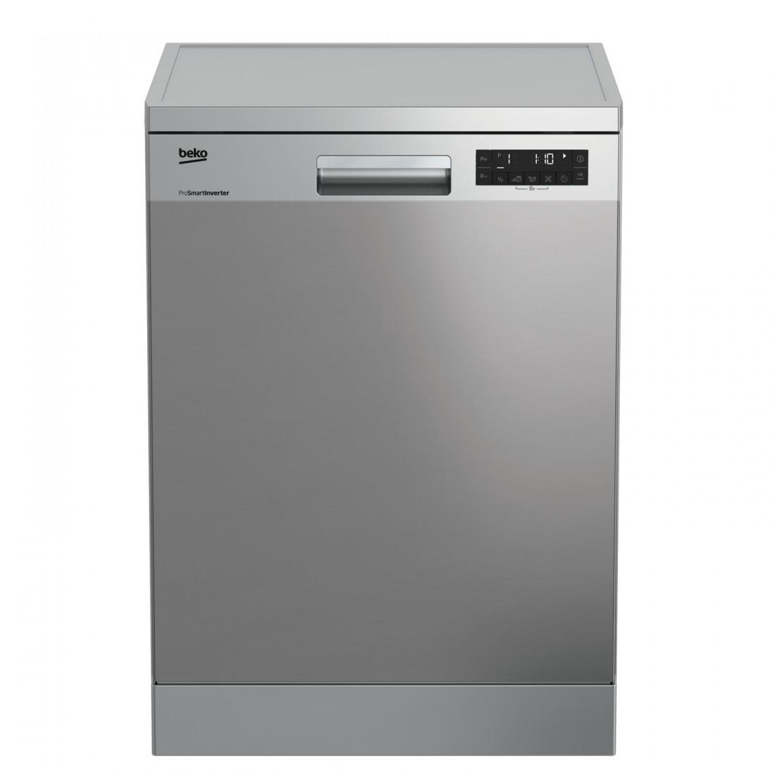 Lavavajillas Libre Instalación - Beko DFN28422X, Eficiencia A++, 14 kg, Acero Inoxidable