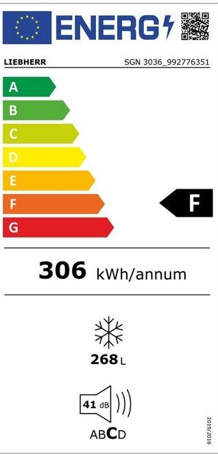 Etiqueta de Eficiencia Energética - SBS7213