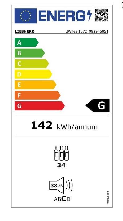 Etiqueta de Eficiencia Energética - UWTES1672