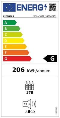 Etiqueta de Eficiencia Energética - WTES5872