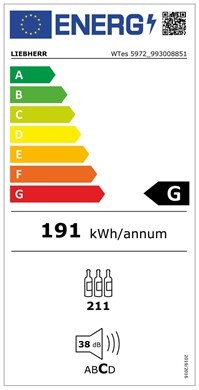 Etiqueta de Eficiencia Energética - WTES5972