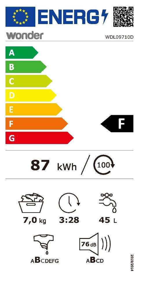 Etiqueta de Eficiencia Energética - WDL09710D
