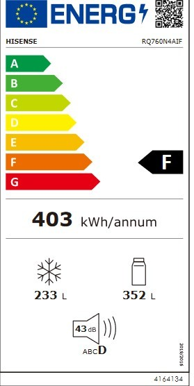 Etiqueta de Eficiencia Energética - RQ760N4AIF