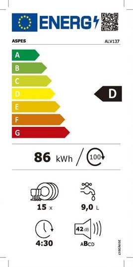 Etiqueta de Eficiencia Energética - ALV136X