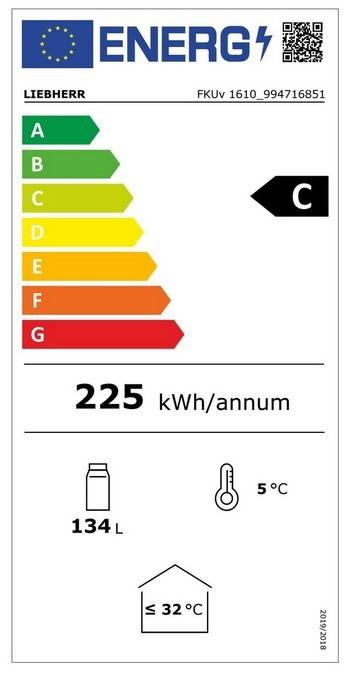 Etiqueta de Eficiencia Energética - FKUV1610