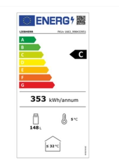 Etiqueta de Eficiencia Energética - FKUV1663