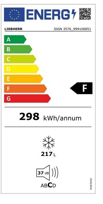 Etiqueta de Eficiencia Energética - SIGN3576