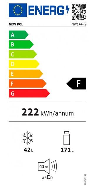 Etiqueta de Eficiencia Energética - NW144P2