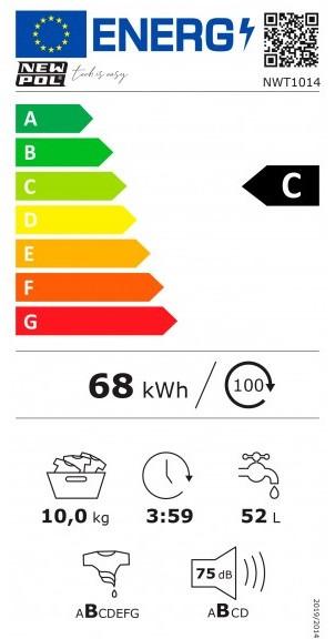 Etiqueta de Eficiencia Energética - NWT1014
