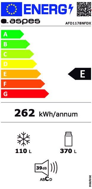 Etiqueta de Eficiencia Energética - AFD1178NFDX