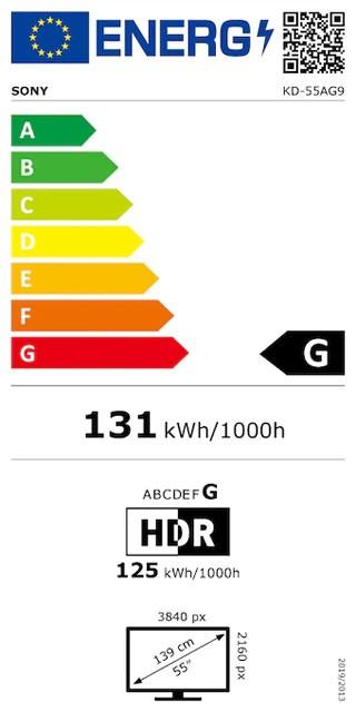 Etiqueta de Eficiencia Energética - KD55AG9BAEP