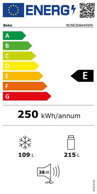 Etiqueta de Eficiencia Energética - RCNE366K40WN