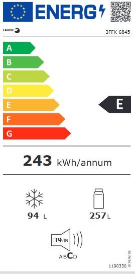Etiqueta de Eficiencia Energética - 3FFK-6845