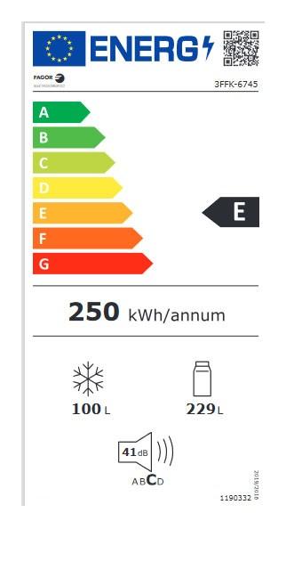 Etiqueta de Eficiencia Energética - 3FFK-6745