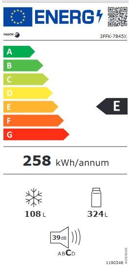 Etiqueta de Eficiencia Energética - 3FFK-7845X