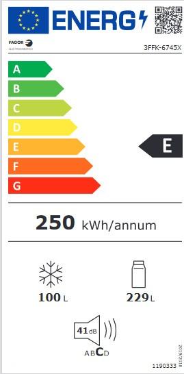 Etiqueta de Eficiencia Energética - 3FFK-6745X