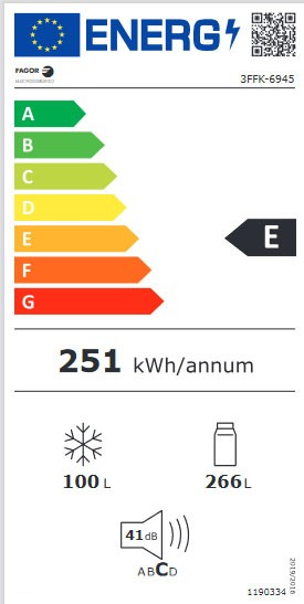 Etiqueta de Eficiencia Energética - 3FFK-6945