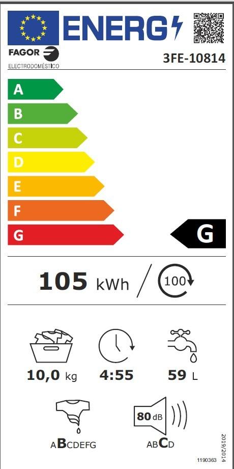 Etiqueta de Eficiencia Energética - 3FE-10814
