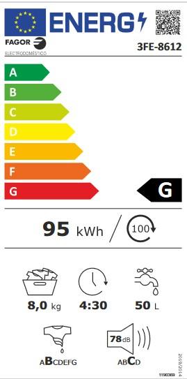 Etiqueta de Eficiencia Energética - 3FE-8612X
