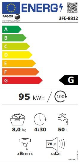 Etiqueta de Eficiencia Energética - 3FE-8812