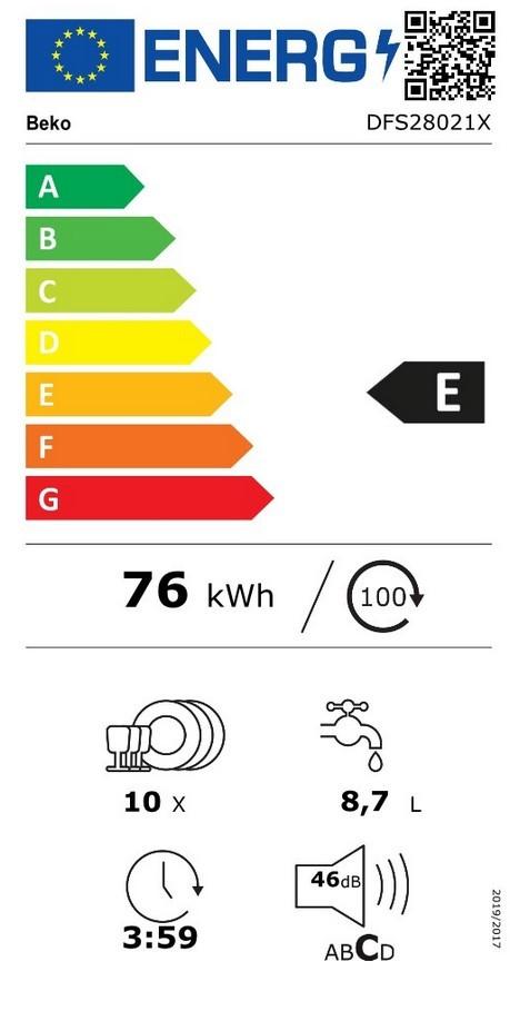 Etiqueta de Eficiencia Energética - DFS28021X