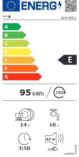 Etiqueta de Eficiencia Energética - 3LVF-635.1X