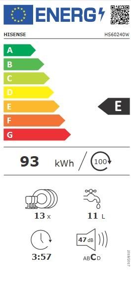 Etiqueta de Eficiencia Energética - HS60240W