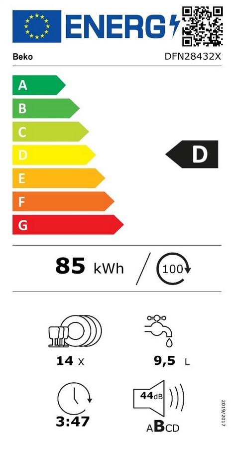 Etiqueta de Eficiencia Energética - DFN28432X