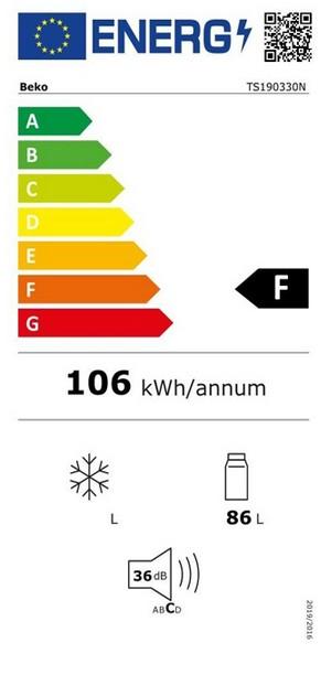 Etiqueta de Eficiencia Energética - TS190320