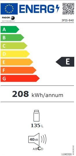 Etiqueta de Eficiencia Energética - 3FIS-840