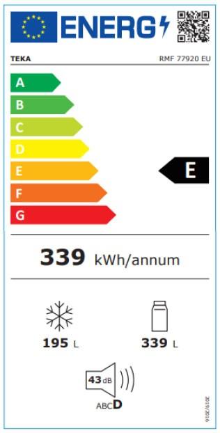 Etiqueta de Eficiencia Energética - 113430009