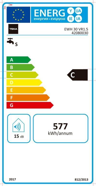 Etiqueta de Eficiencia Energética - 111720001