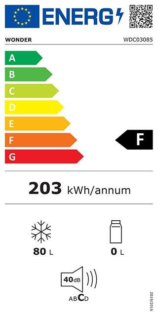Etiqueta de Eficiencia Energética - WDC03085