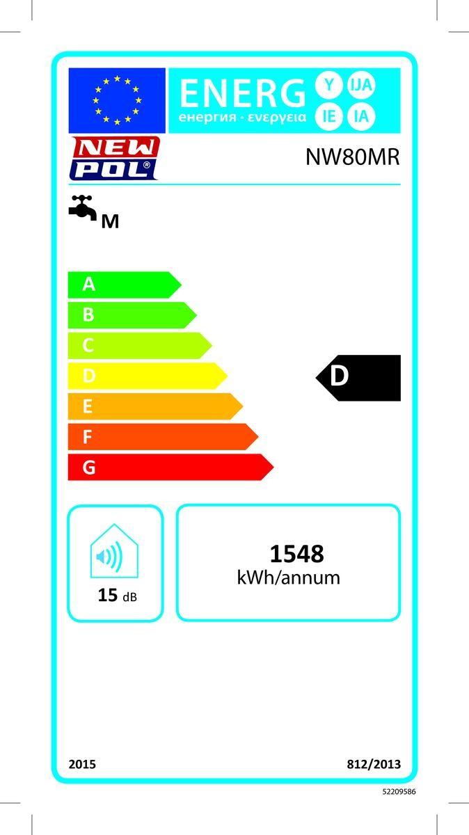 Etiqueta de Eficiencia Energética - NW80MR