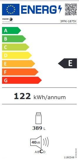 Etiqueta de Eficiencia Energética - 3FFK-1875X