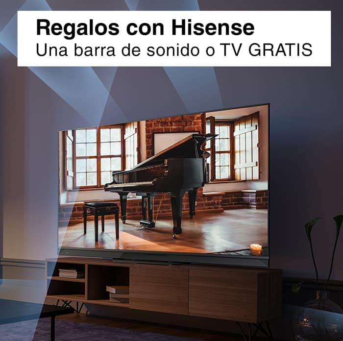 De regalo un televisor o barra de sonido comprando un televisor Hisense