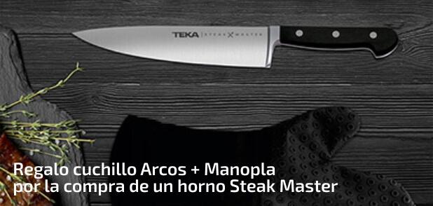 Regalo de cuchillo Arcos + Manopla por la compra de un horno Steak Master